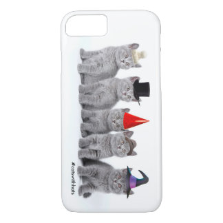 帽子(iPhone 7の場合)との5 Kittencats iPhone 8/7ケース