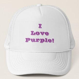 帽子I愛紫色 キャップ