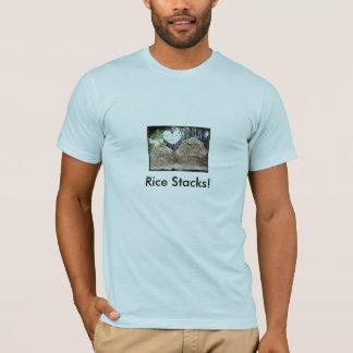 干し草のカップル、米の積み重ね! Tシャツ