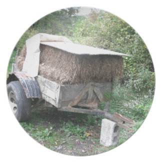 干し草のカート プレート
