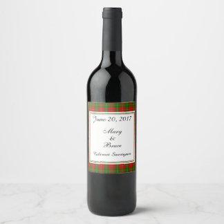 干し草のスコットランドの結婚式のワインのラベル ワインラベル