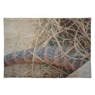 干し草動物のイメージのアルマジロの尾 ランチョンマット