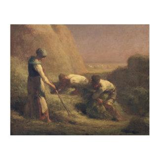 干し草Trussers 1850-51年 ウッドウォールアート
