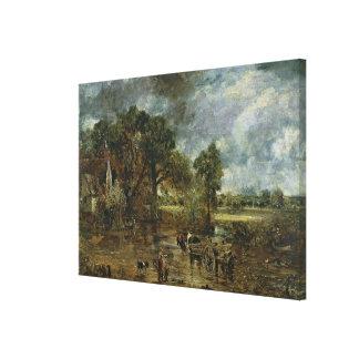 「干し草Wain」のためのフル・スケールの勉強、c.1821 キャンバスプリント