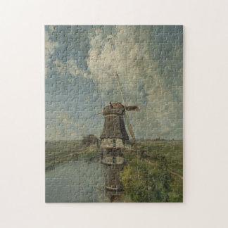 干拓の水路ポールGabriëlのオランダの風車 ジグソーパズル