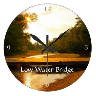 干潮橋-日没の柱時計 壁時計