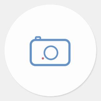 平らなカメラのデザイン ラウンドシール