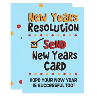 平らなカード新年の決断の©のおもしろいな休日の カード