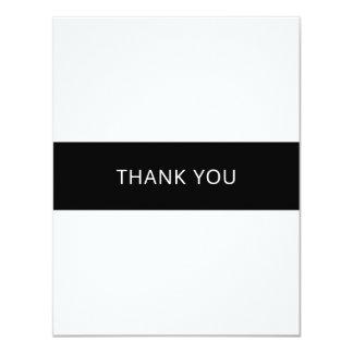 平らなシンプルな白黒サンキューカード- カード