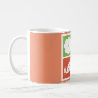 平らなデザインの4季節 コーヒーマグカップ