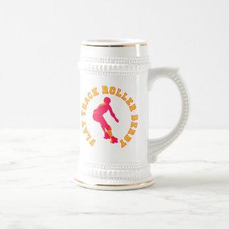 平らなトラックローラーダービー ビールジョッキ