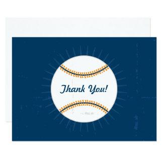 平らなメッセージカード|の野球のテーマありがとう 8.9 X 12.7 インビテーションカード