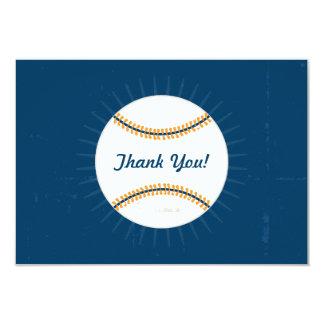 平らなメッセージカード の野球のテーマありがとう 8.9 X 12.7 インビテーションカード