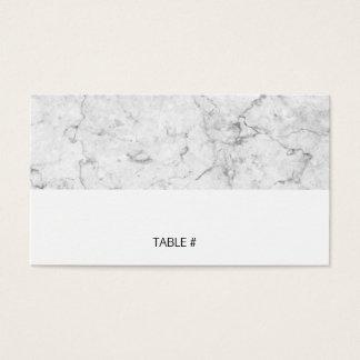 平らなモダンな大理石の座席表- 名刺