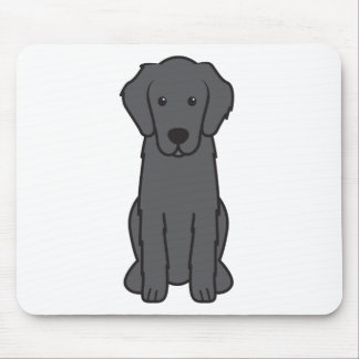 平らな上塗を施してあるレトリーバー犬の漫画 マウスパッド