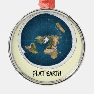 平らな地球のイメージ メタルオーナメント