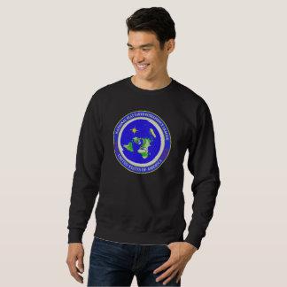 平らな地球のデザイン-知性リーグ米国 スウェットシャツ