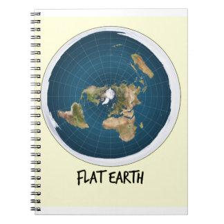 平らな地球の写真 ノートブック