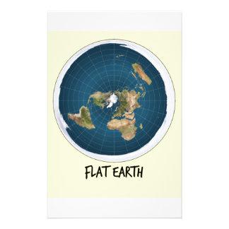 平らな地球の写真 便箋