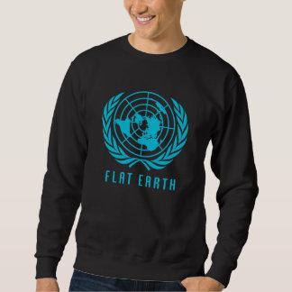 平らな地球の地図のスエットシャツ スウェットシャツ