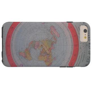 平らな地球の地図 TOUGH iPhone 6 PLUS ケース
