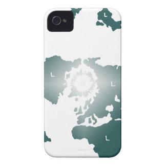 平らな地球の地図、Zetetic方位角の等距離の地図 Case-Mate iPhone 4 ケース