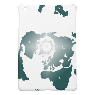 平らな地球の地図、Zetetic方位角の等距離の地図 iPad Mini Case