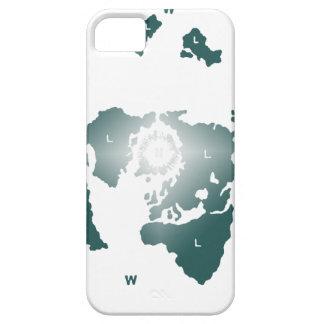 平らな地球の地図、Zetetic方位角の等距離の地図 iPhone SE/5/5s ケース