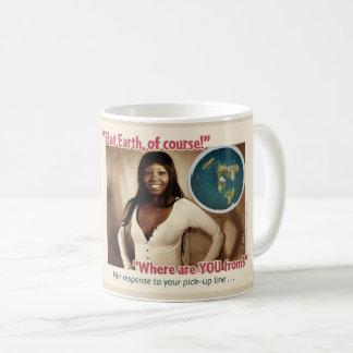 平らな地球の教育コーヒー・マグ#3 コーヒーマグカップ