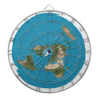 平らな地球方位角AEはダート盤のあたりで地図を描きます ダーツボード