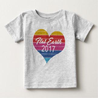 平らな地球2017年 ベビーTシャツ
