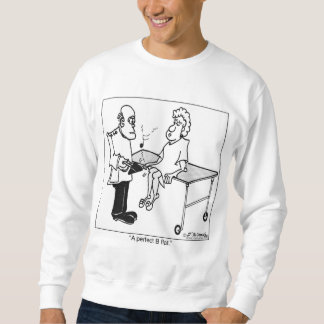 平らな完全なB スウェットシャツ