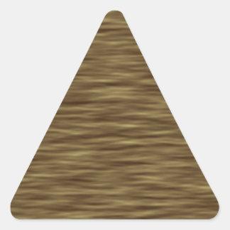 平らな木製の素晴らしくかわいい皮の箱 三角形シール