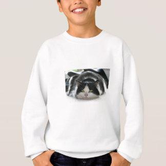 平らな猫 スウェットシャツ