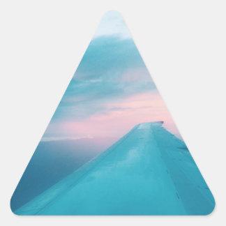 平らな眺め 三角形シール