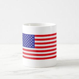 平らな米国の旗-マグ コーヒーマグカップ