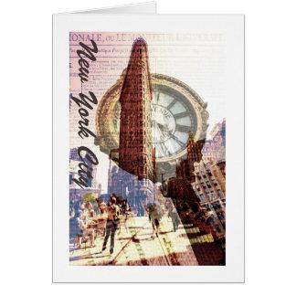 平らな鉄の建物、NYC カード