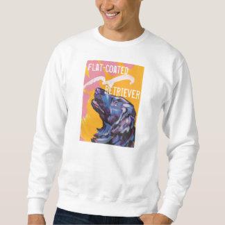平ら上塗を施してあるレトリーバー犬のbreightのポップアートのワイシャツ スウェットシャツ