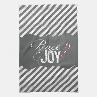 平和および喜びのクリスマス キッチンタオル