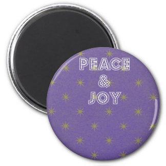 平和および喜びの星のクリスマスの磁石 マグネット