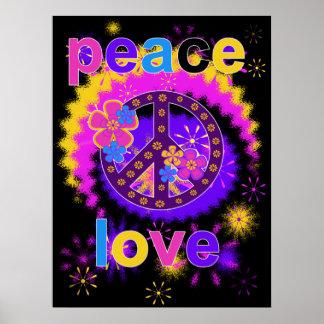平和および愛ポスター ポスター