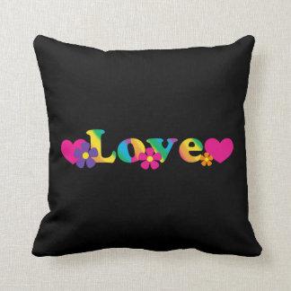 平和および愛60s虹の枕 クッション