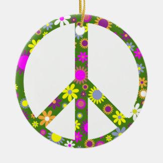 平和および愛 セラミックオーナメント
