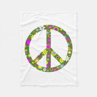 平和および愛 フリースブランケット