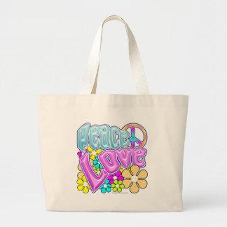 平和および愛 ラージトートバッグ