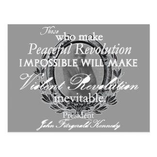 平和か激しい改革のJFK ポストカード