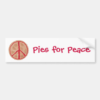 平和さくらんぼの平和パイバンパーステッカーのためのパイ バンパーステッカー