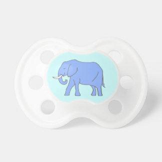 平和で青い象の歩く おしゃぶり