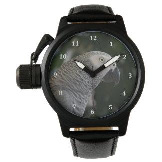 平和なアフリカ灰色 腕時計