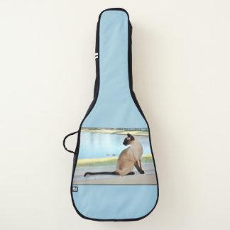 平和なシャム猫の絵画 ギターケース